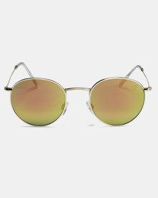 CHPO Liam Sunglasses Gold/Pink Mirror