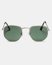 CHPO Ian Sunglasses Gold/Green