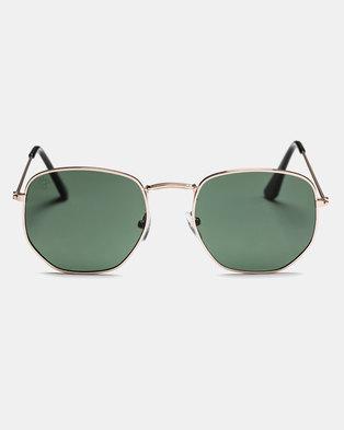 CHPO Ian Sunglasses Gold/Green