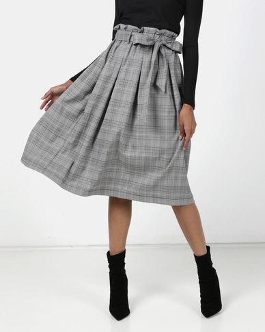 Utopia Check Skirt Black/Orange