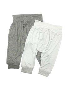 Petit Love Signature Harem Pants Set - Grey Melange & White