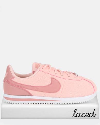 new product a7e60 6981a Nike Cortez Basic TXT SE (GS) Sneakers Storm Pink/Rust Pink