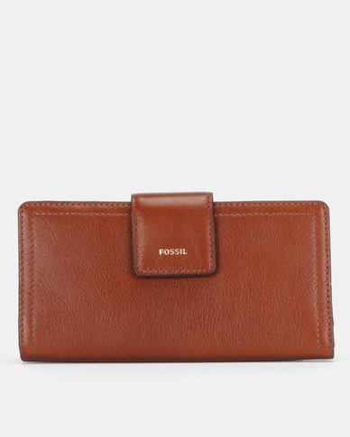 Fossil Logan Leather Bifold Wallet Brown