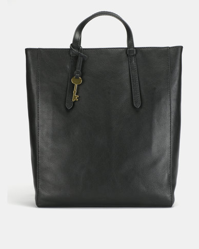 Fossil Camilla Leather Convertible Backpack Black