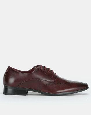 Franco Ceccato Baldini Formal Lace Up Shoes Burgundy