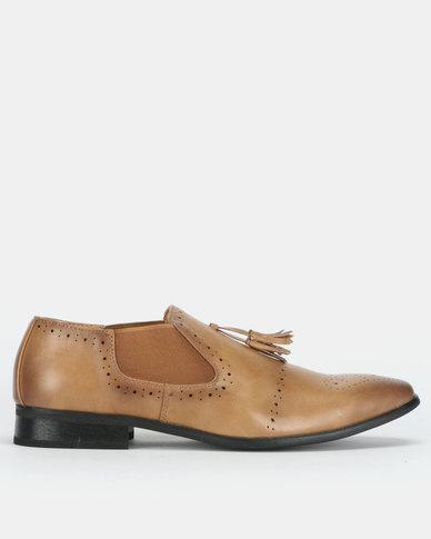 Franco Ceccato Baldini Formal Slip In Shoes Tan
