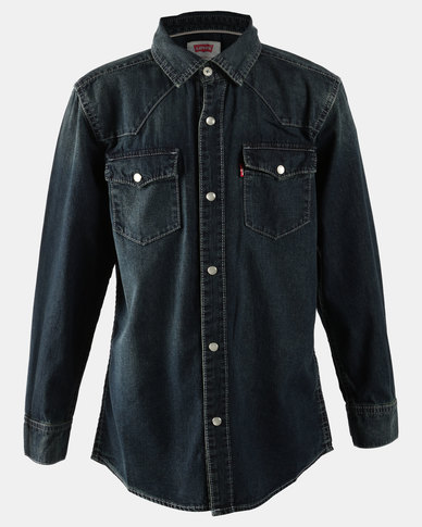 Barstow Western Shirt Blue