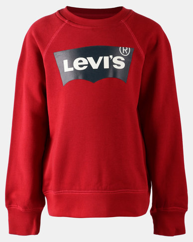 Classic Logo Pullover Sweatshirt Red