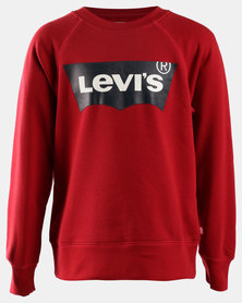 Classic Logo Pullover Sweatshirt Red