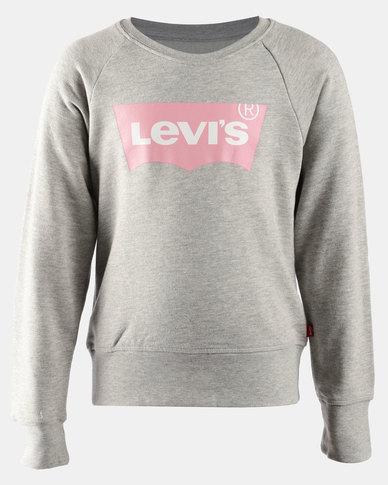Classic Logo Pullover Sweatshirt Grey