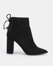 Sissy Boy Ankle Boots with Lace Up Detail Black