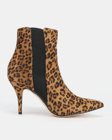 Sissy Boy Heeled Ankle Boots Leopard