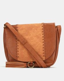 Bata Brown Crossbody Bag
