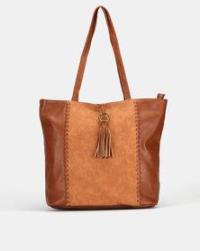 Bata Brown Shopper Bag