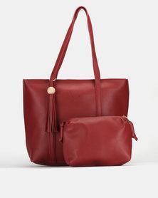 Bata Shopper and Crossbody Bag Red