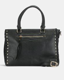 Bata Braid Detail Shoulder Bag Black