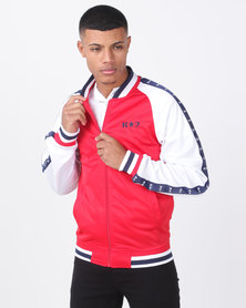 K-Star 7 Champ Trico Zip Through Track Top Red