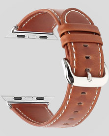 Gretmol Tan Leather Apple Watch Replacement Strap - 38MM