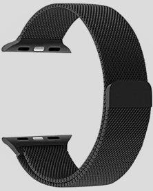 Gretmol Black Milanese Apple Watch Replacement Strap - 38mm