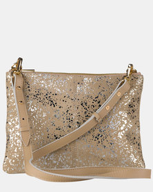Julz Gwen Leather Nude Gold
