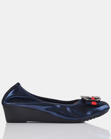 Julz Jina Leather Navy