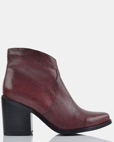 Julz Eve Leather Burgundy