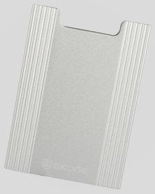 Minimalist Wallet - Slim Light Weight Card Holder RFID Blocking-Brushed Silver