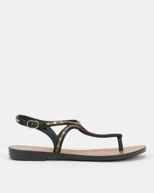Grendha Luxo Sandals Fem Black