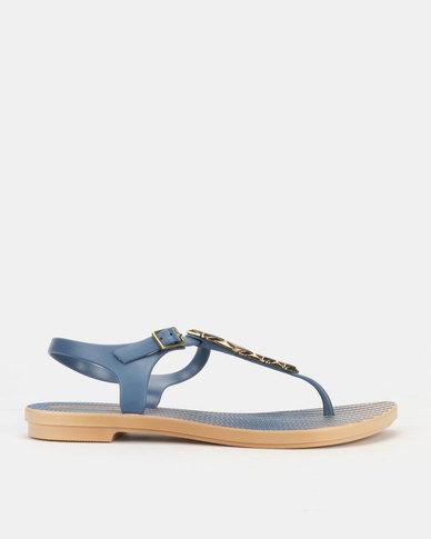 Grendha Jewels II Sandals Fem Beige Blue