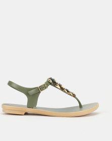 Grendha Jewels II Sandals Fem Beige Green