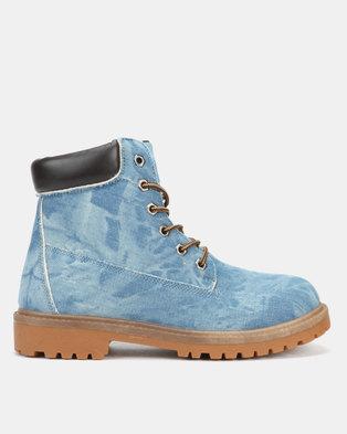 3059d1d6 Pierre Cardin 00163 Denim Boots Blue