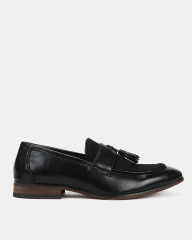 Utopia Formal Tassle Slip On Black