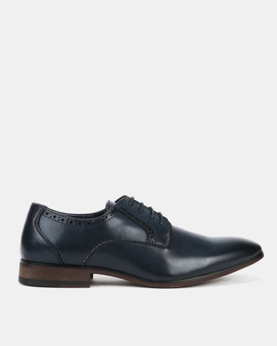 Utopia Formal Lasered Lace Up Navy