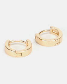By Cara Thick Mini Huggie Earrings Gold