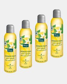 """Kneipp Shower Foam Lemon, Mint & Avocado """"Happy Moments"""" Set of 4"""
