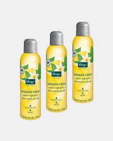 """Kneipp Shower Foam Lemon, Mint & Avocado """"Happy Moments"""" Set of 3"""