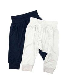 Petit Love Signature Harem Pants Set  - Ink & White