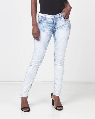 Only Celina Super Skinny Bleached Blue Jeans