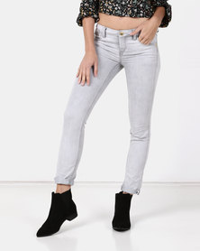 Only Celina Super Skinny Jeans Light Grey