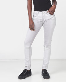Only Mila Super Skinny Jeans Light Grey