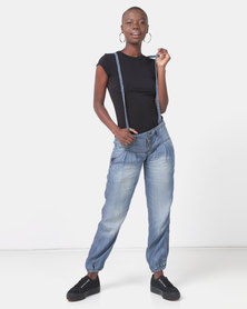 Only Breeze Relaxed Fit Blue Jeans