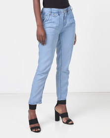 Only Weave Relaxed Jeans Blue