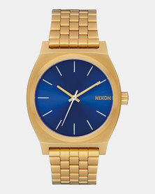 Nixon Time Teller Sunray Watch All Gold Blue
