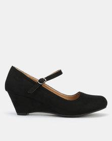 Butterfly Feet Kerina Wedges Black
