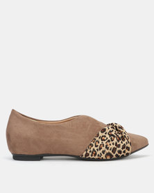 Butterfly Feet Coco Slip On Flats Taupe