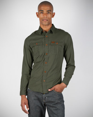 9bd426ca81 Voi Jeans Military Style Shirt Olive Green