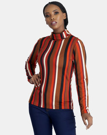 Contempo Multi Stripe Poloneck