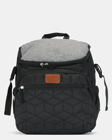 TotesBabe Fantasia 22L Diaper Backpack Black & Grey