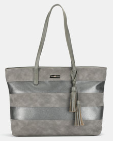 Supa Nova Tassles Ladies Laptop Bag Dark Grey