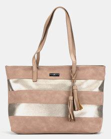 Supa Nova Tassles Ladies Laptop Bag Taupe